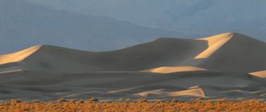 Sand dunes at sunset in Death Valley California Royalty Free Stock Photography