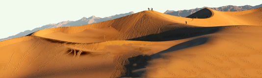 Sand Dunes at Sunset at Death Valley National Park Stock Photos