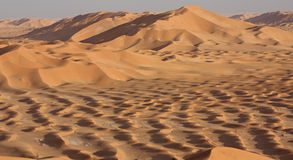 Sand Dunes at Sunset#4: Mounds of Golden Sand Stock Photography