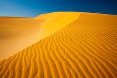 Sand Dunes at sunset. Mui Ne Sand Dunes, Vietnam Stock Photo