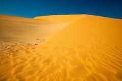 Sand Dunes at sunset. Mui Ne Sand Dunes, Vietnam royalty free stock images