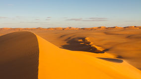 Sand Dunes at Sunset - Murzuq Desert, Sahara Stock Photography