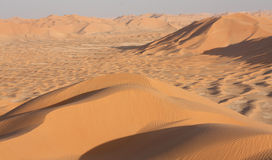 Sand Dunes at Sunset#10: Rub Al Khali - The Highest Point Royalty Free Stock Photos