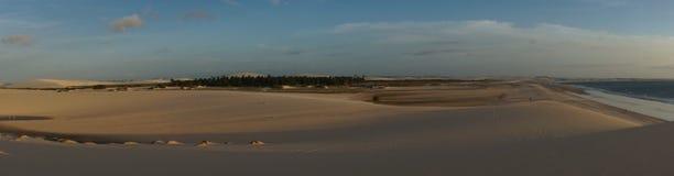 Sand dunes at sunset Stock Photo