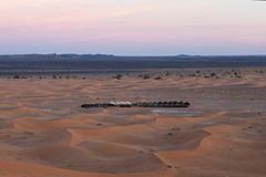 Sand dunes and tent camping in Western Sahara, Morocco Royalty Free Stock Image