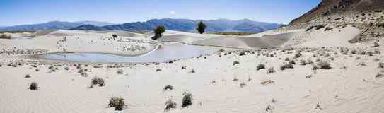 Sand dunes of Tibet Royalty Free Stock Images