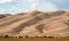 Sand Dunes. Tight shot of silky looking sand dunes Royalty Free Stock Photos