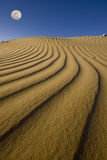 Sand dunes under the moon Royalty Free Stock Photo