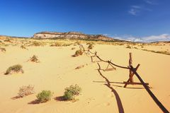 Sand dunes in Utah. View of sand dunes in Utah Stock Photos