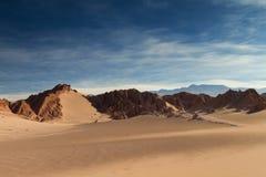 Sand dunes at Valle de la Muerte Royalty Free Stock Image