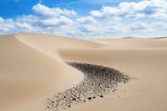 Sand dunes in Viana desert - Deserto de Viana in Boavista - Cape Stock Image