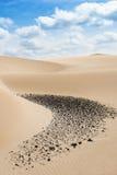 Sand dunes in Viana desert - Deserto de Viana in Boavista - Cape Stock Photography