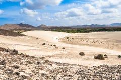 Sand dunes in Viana desert - Deserto de Viana in Boavista - Cape Royalty Free Stock Photography