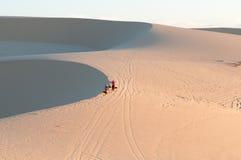 Sand dunes,Vietnam. The sand dunes in the Vietnam stock photography