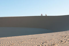Sand dunes, Vietnam. The sand dunes in the Vietnam royalty free stock photos