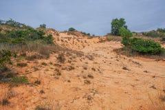 The sand dunes of Vietnam stock photo