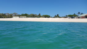Sand Dunes View from Ocean. A view of the sand dunes on Great Keppel Island from the ocean Stock Photo