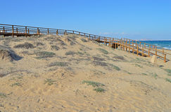 Sand Dunes And A Walkway Royalty Free Stock Images