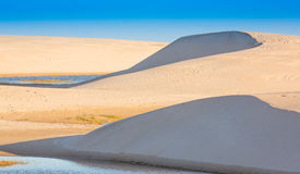 Sand Dunes and Water Stock Images