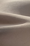 Sand dunes. With wavy texture in Death Valley, California Royalty Free Stock Photo