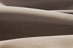 Sand dunes. With wavy texture in Death Valley, California Stock Photos