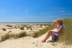 Free Sand Dunes With Helmet Grass Royalty Free Stock Images - 20261519