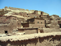 Sand dwellings. Kasbah in Morocco Royalty Free Stock Photography