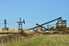 Sand extraction Plant Royalty Free Stock Image
