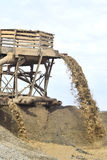 Sand extraction for the production Royalty Free Stock Photography