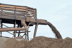 Sand extraction for the production Stock Images