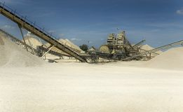 Sand extraction site Stock Photography