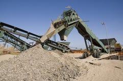 Sand-Extraktion Lizenzfreies Stockfoto