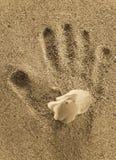 sand för childshandtryck arkivbild