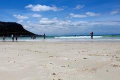Sand för fiskHoek strand Arkivfoton