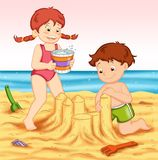 sand för slott s royaltyfri illustrationer