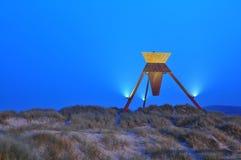 sand för blokhusdenmark dyner Arkivfoton
