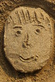 Sand face Royalty Free Stock Photography