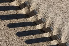 Sand fence Royalty Free Stock Image