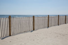 Sand Fence on Beach Royalty Free Stock Images