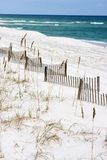 Sand Fences Along Seashore Royalty Free Stock Images