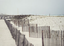Sand Fences Prevent Erosion on Florida Beach Stock Photos