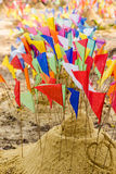 Sand festiva. Philanthropy sand pagodas tradition of Thailand royalty free stock photography