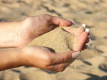 Sand fistful Royalty Free Stock Photography