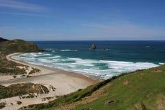 Sand fly bay 2. Sand fly bay, Otago Peninsula, Dunedin, south island, New Zealand Stock Photo