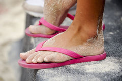 Sand foot Royalty Free Stock Image
