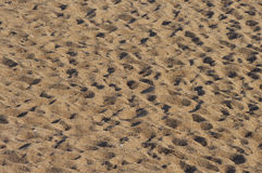 Sand foot prints Royalty Free Stock Images