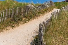 Sand footpath through dunes Royalty Free Stock Image