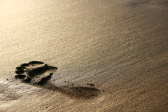 Sand Footprint Stock Photography