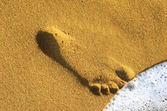 Sand Footprint Stock Image