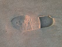 Sand footprint Royalty Free Stock Photos
